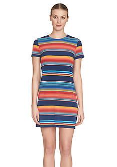 1.State Fiesta Stripe T-Shirt Dress