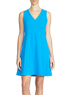 1.State Sleeveless V-Neck Fit and Flare Dress