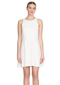 1.State Sleeveless Pleat Front Fit And Flare Dress