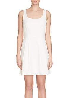 1.State Square Neck Fit and Flare Dress