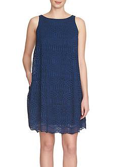 1. State Sleeveless Trapeze Dress