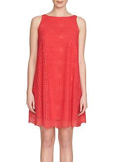 1.State Sleeveless Trapeze Dress