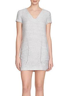 1.State Short Sleeve Pocket Shift Dress