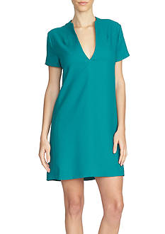 1. State Short Sleeve V Neck Shift Dress