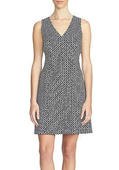1. State Sleeveless V Neck Print Dress