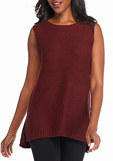 New Directions Side Slit Knubby Sweater