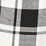 Women: New Directions Weekend Tops: Black / Atlas Ivory New Directions Weekend Plaid Peasant Crochet Hem Shirt