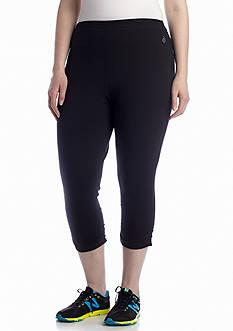 be inspired Plus Size Capri Legging With Shirring