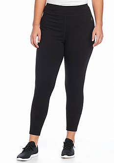 be inspired Plus Size Solid Workout Leggings