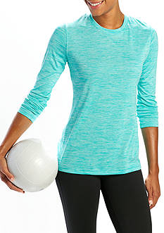 be inspired Long Sleeve Scoop Neck Heather Tee