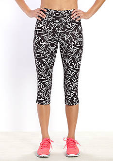 be inspired Slim Fit Performance Printed Capri