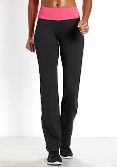be inspired Slim Leg Pants With Solid Color Waistband