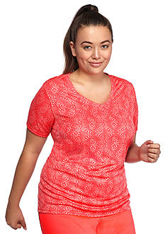 be inspired Plus Size Short Sleeve V-Neck Tee