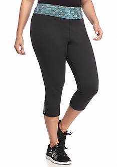 be inspired Plus Size Contrast Panel Capri