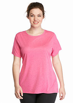 be inspired Plus Size Heather Crew Neck Tee