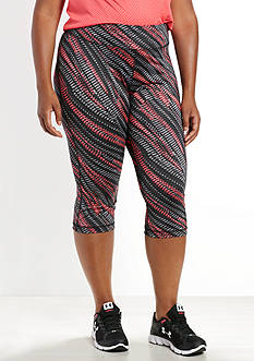 be inspired Plus Size Slim Fit Printed Capris