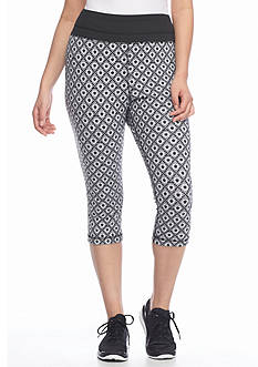 be inspired Plus Size Perfect Fit Allover Print Capri Pants