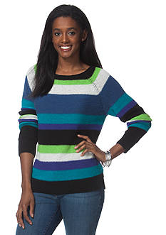 Chaps Striped Long Sleeve Sweater