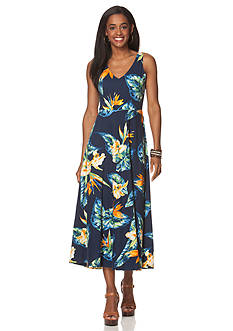 Chaps Tropical Jersey Maxi Dress