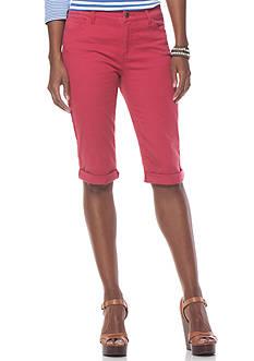 Chaps 5-Pocket Soft Twill Shorts