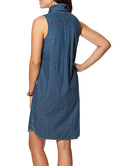 Chaps Sleeveless Denim Dress