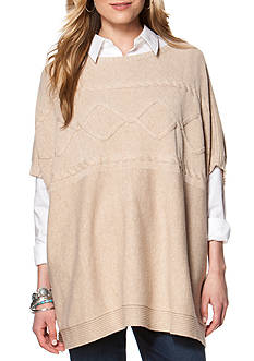 Chaps Cable Knit Poncho