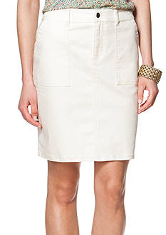 Chaps Stretch Denim Skirt