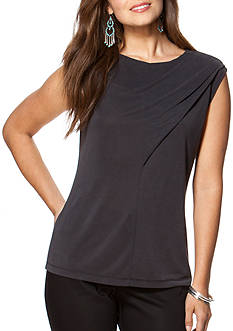 Chaps Draped Jersey Top
