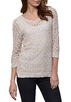 Leo & Nicole Textured Marl Sweater