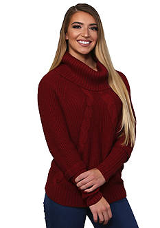 Leo & Nicole Long Sleeve Novelty Yarn Sweater Pullover