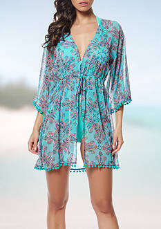 Bleu Rod Beattie Driving Miss Paisley Caftan