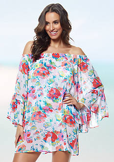 Bleu Rod Beattie Fresh Start Peasant Dress Cover Up