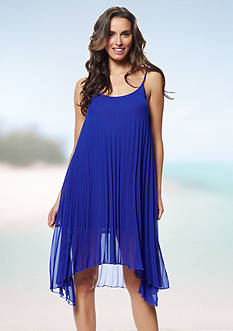 Bleu Rod Beattie Over The Edge A-line Pleated Cover Up Dress