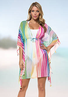 Bleu Rod Beattie Ripple Effect Caftan Cover-Up