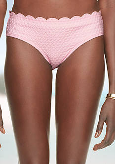 kate spade new york Marina Scalloped Jacquard Swim Bottoms