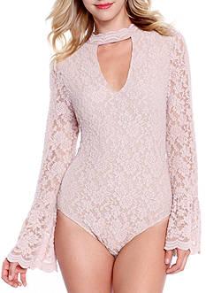 Taylor & Sage High Neck Lace Top Bodysuit