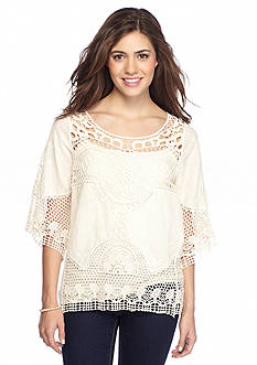 Taylor & Sage Crochet Lace Top