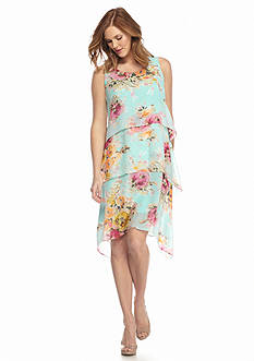 Melissa Paige Layered Floral Dress