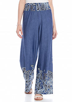 Melissa Paige Denim Paisley Soft Pants