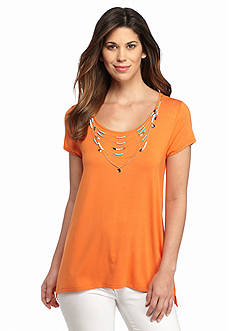 Melissa Paige Sharkbite Necklace Top