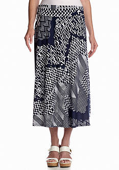 Melissa Paige Digital Wave Foldover Waist Skirt