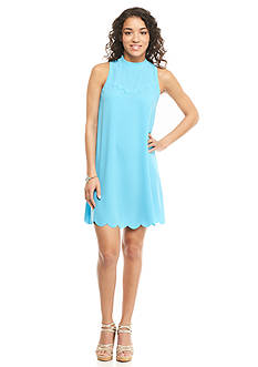 Everly Solid Scalloped Dress