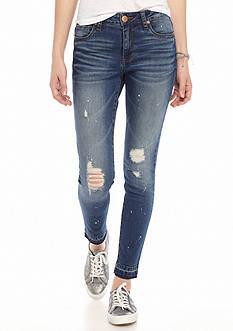 See Thru Soul Emma Ankle Skinny Jeans