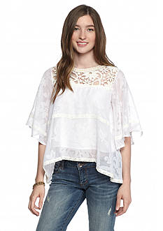 Esley Lace Floral Blouse