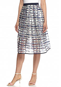 Esley Geo Pattern Woven Skirt
