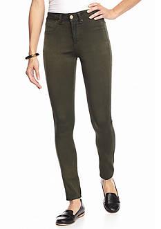 Suede Riley Overdye Sateen Skinny Jeans