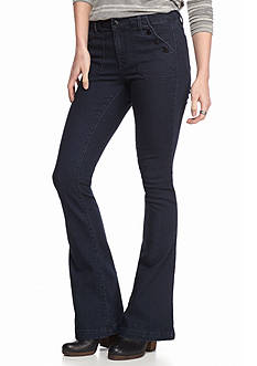 Suede Sailor Flare Jeans