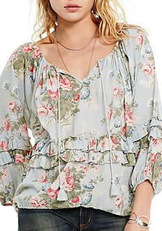 Denim & Supply Ralph Lauren Floral Boho Ruffle Blouse