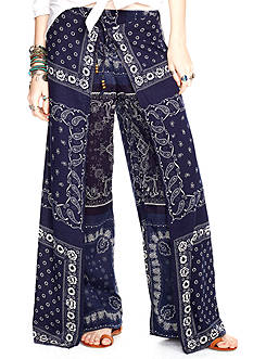 Denim & Supply Ralph Lauren Bandana Wide Leg Pants