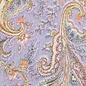 Designer Pants for Women: Paisley Multi/Purple Denim & Supply Ralph Lauren 1215 SMOCKED WIDE LEG
